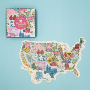 Map Shaped Puzzle